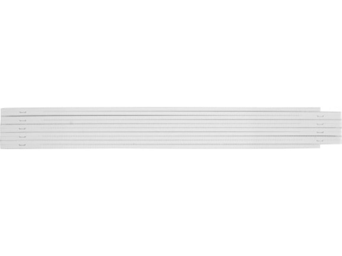 Zollstock 'Bob' aus Kunststoff – Weiß bedrucken, Art.-Nr. 002999999_6632