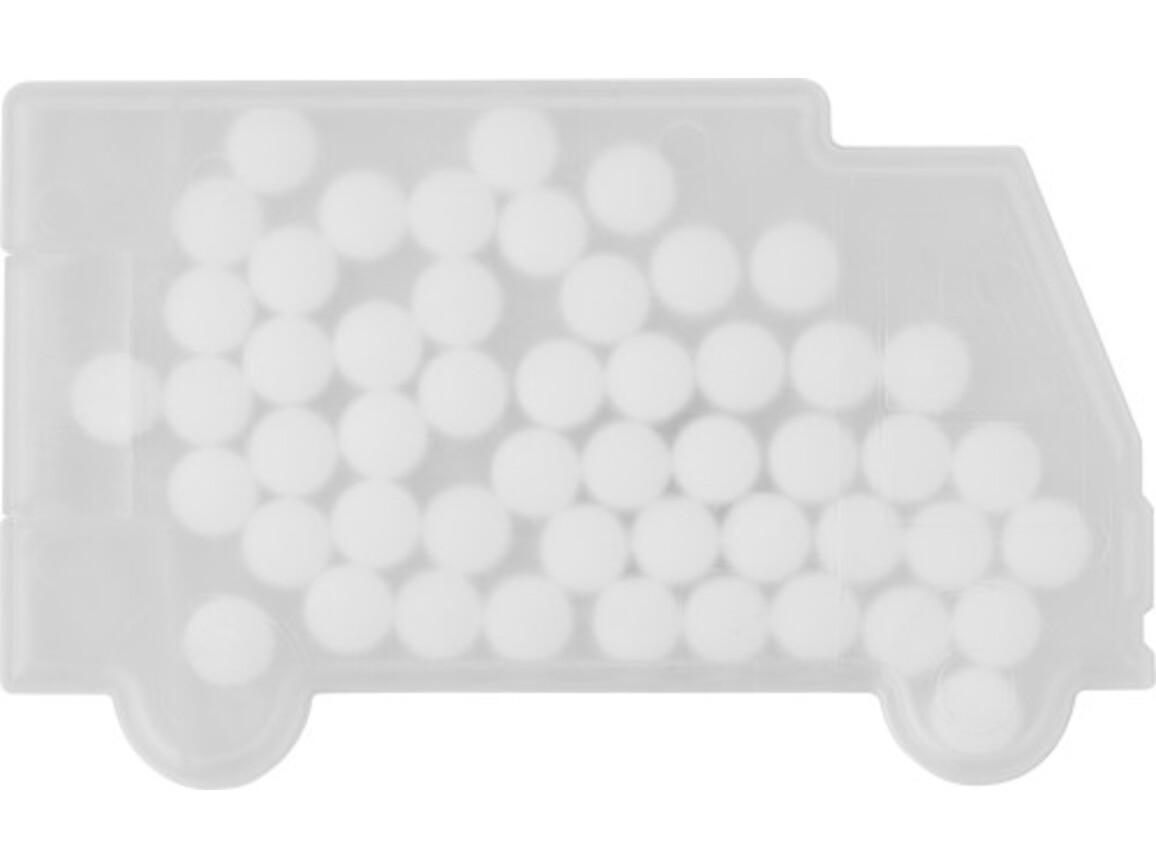 Pfefferminzbonbons 'Truck' aus Kunststoff – Weiß bedrucken, Art.-Nr. 002999999_6679