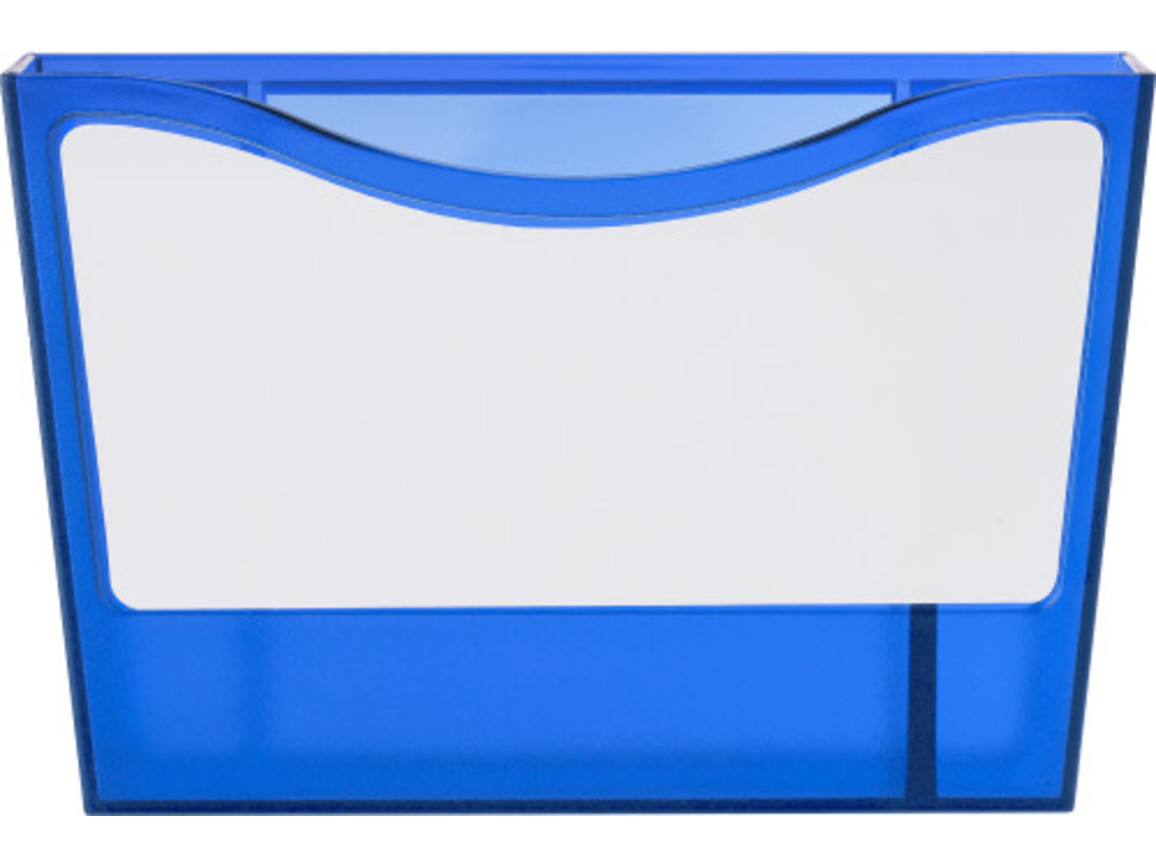 Stifteköcher 'Big Box' aus Kunststoff – Blau bedrucken, Art.-Nr. 005999999_6929