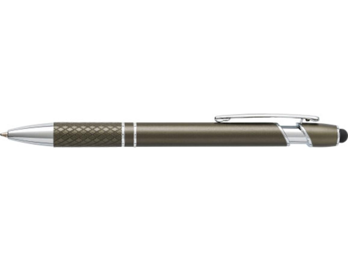 Kugelschreiber 'Arezzo' aus Aluminium – Grau bedrucken, Art.-Nr. 003999999_6933