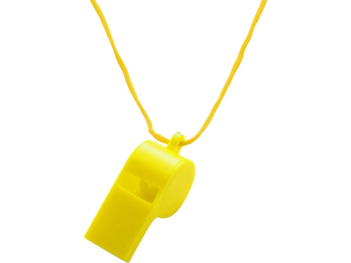 Trillerpfeife 'Attention' aus Kunststoff – Gelb bedrucken, Art.-Nr. 006999999_7060