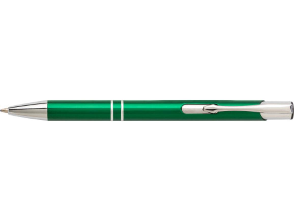 Kugelschreiber 'Iberia' aus Aluminium – Grün bedrucken, Art.-Nr. 004999999_7061