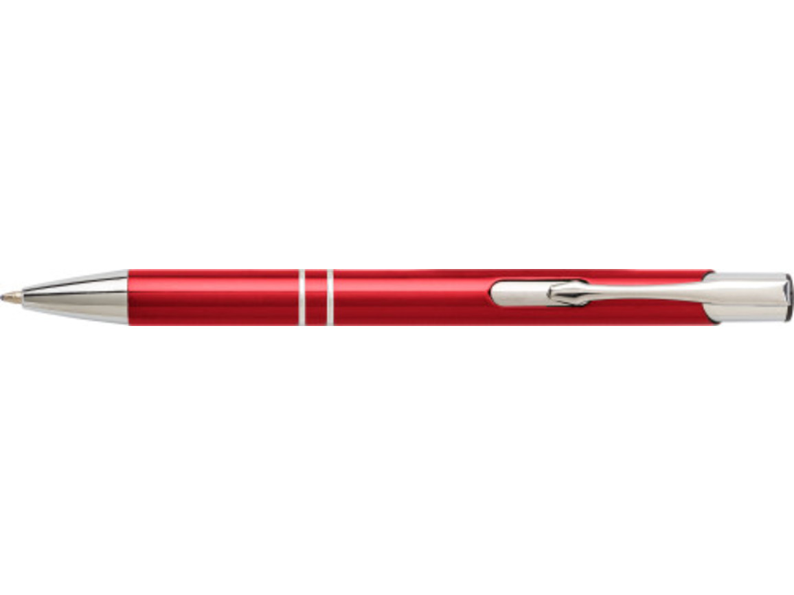 Kugelschreiber 'Iberia' aus Aluminium – Rot bedrucken, Art.-Nr. 008999999_7061