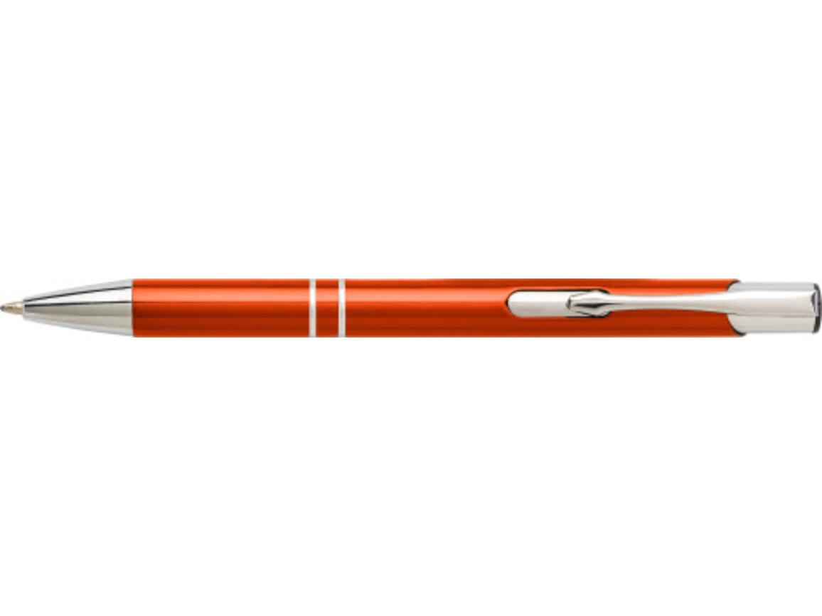 Kugelschreiber 'Iberia' aus Aluminium – Orange bedrucken, Art.-Nr. 007999999_7061