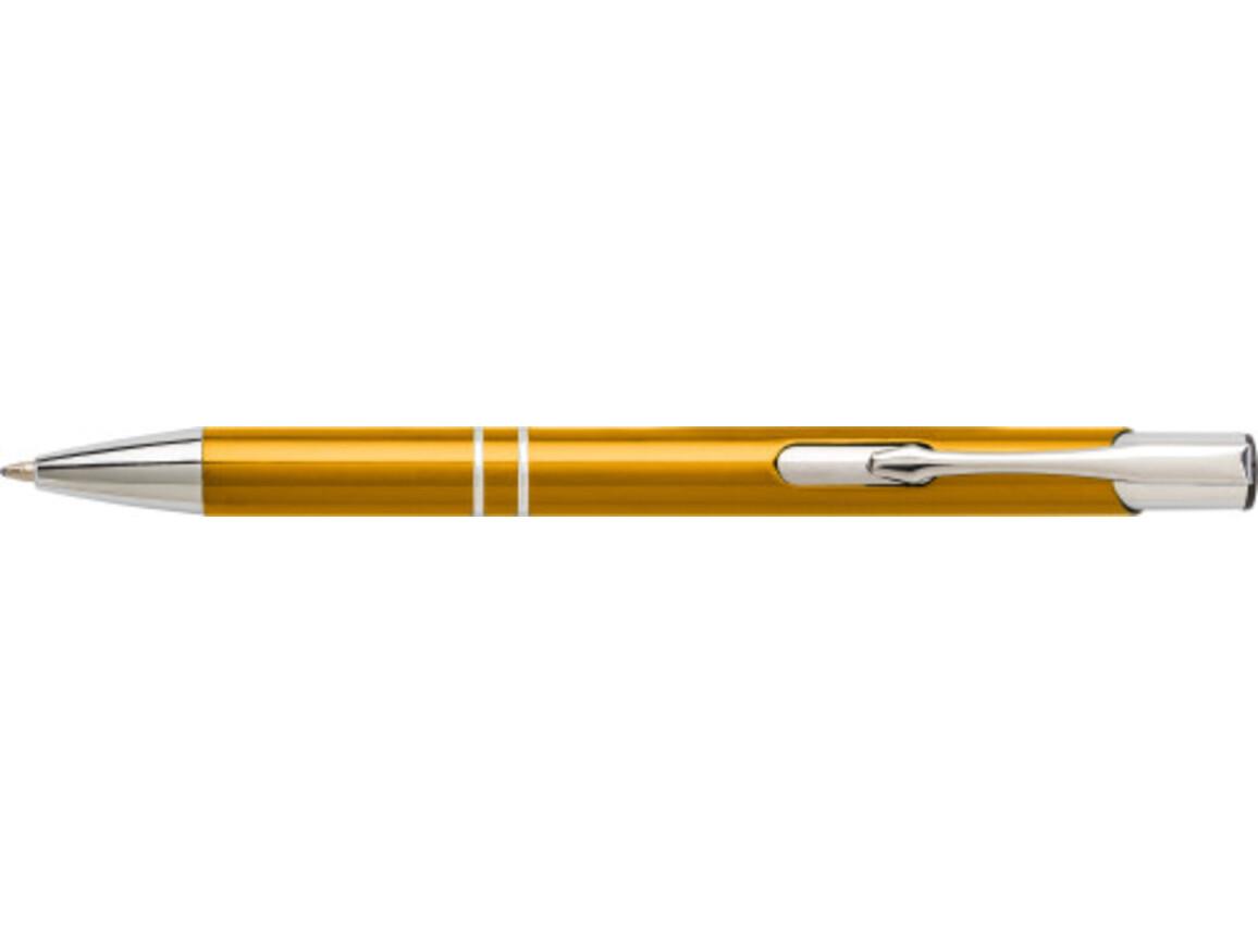 Kugelschreiber 'Iberia' aus Aluminium – Gelb bedrucken, Art.-Nr. 006999999_7061