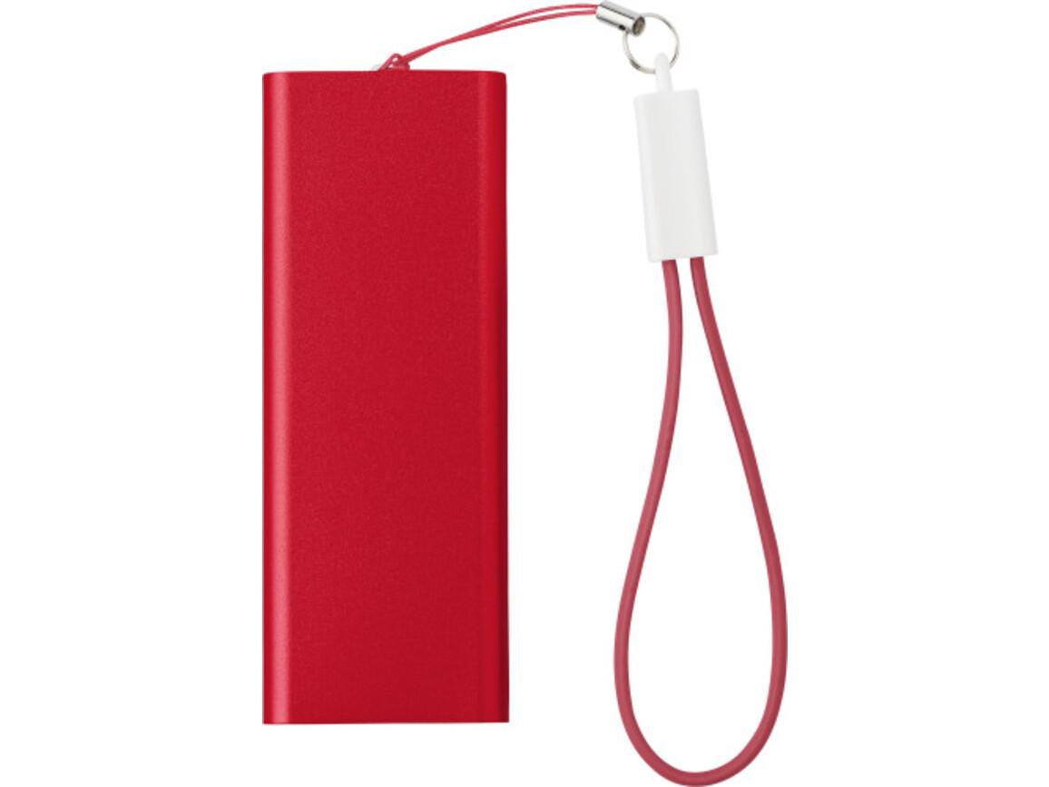 Powerbank 'Colorline' aus Aluminium – Rot bedrucken, Art.-Nr. 008999999_7093