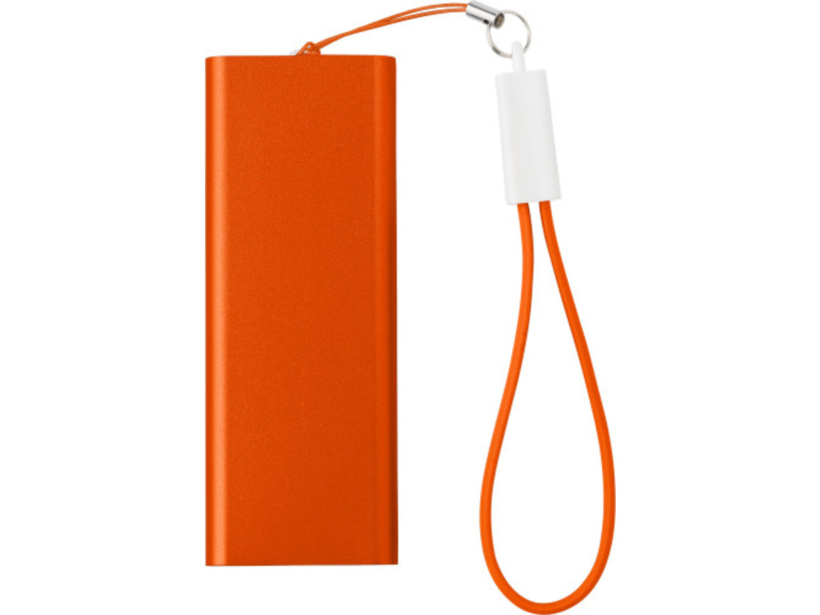 Powerbank 'Colorline' aus Aluminium – Orange bedrucken, Art.-Nr. 007999999_7093