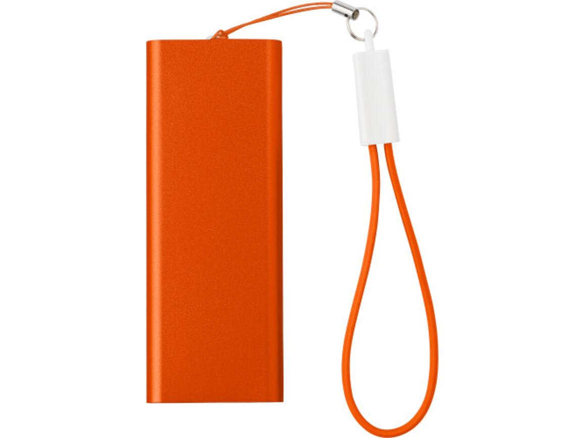 Powerbank 'Colorline' aus Aluminium – Orange bedrucken, Art.-Nr. 007999999_7093