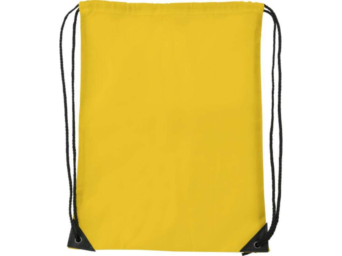 Turnbeutel 'Basic' aus Polyester – Gelb bedrucken, Art.-Nr. 006999999_7097