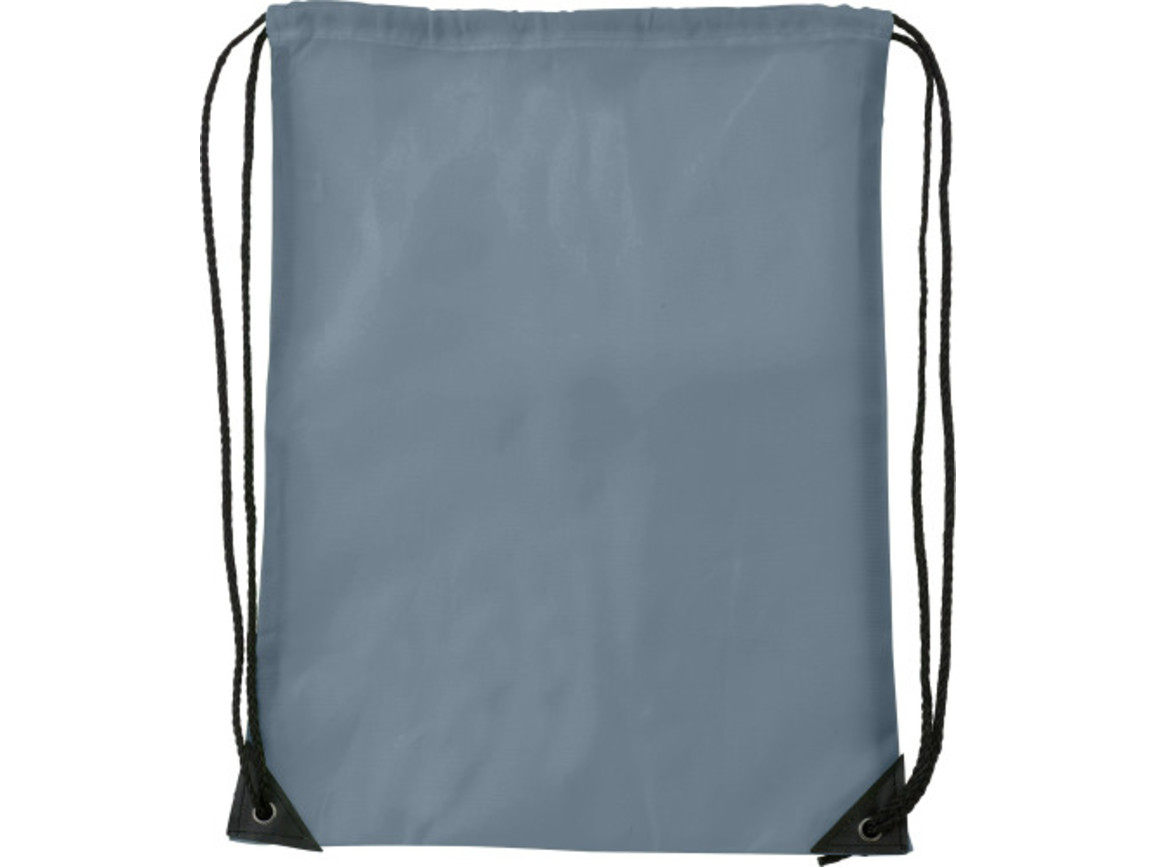 Turnbeutel 'Basic' aus Polyester – Grau bedrucken, Art.-Nr. 003999999_7097