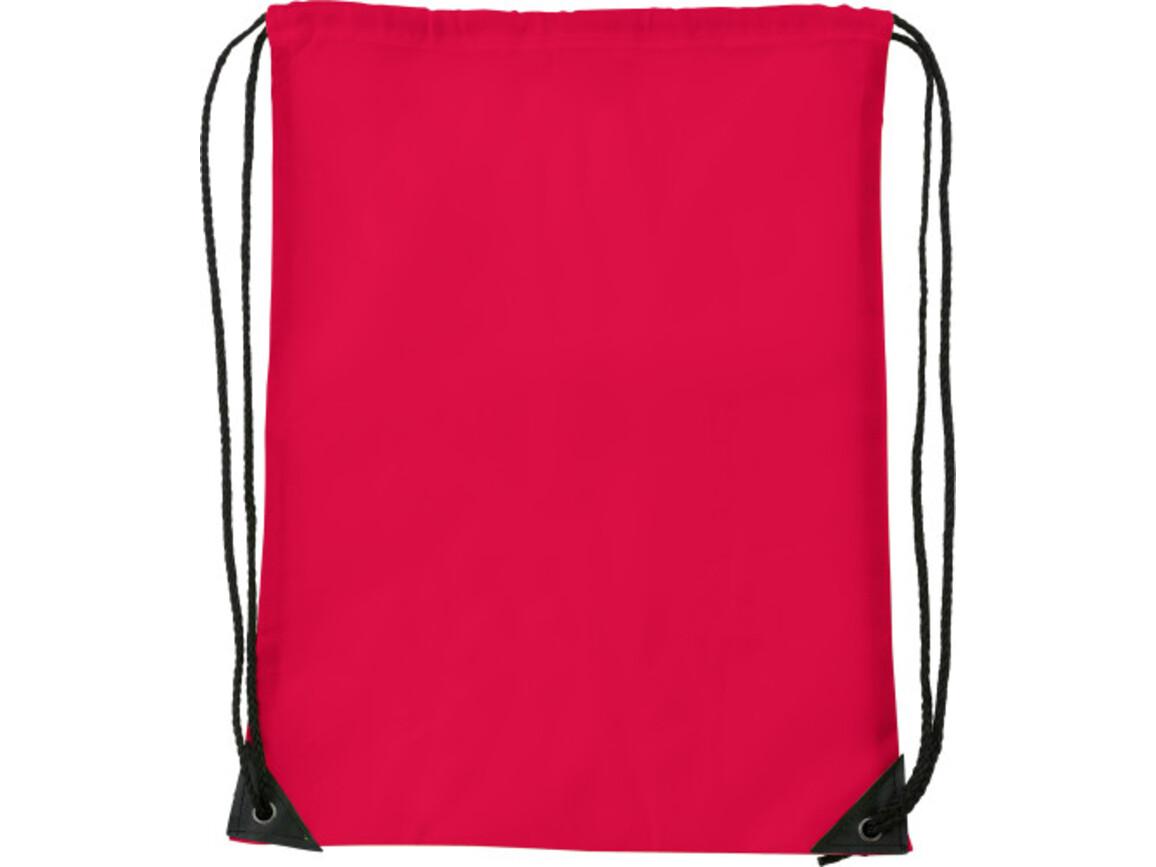 Turnbeutel 'Basic' aus Polyester – Rot bedrucken, Art.-Nr. 008999999_7097