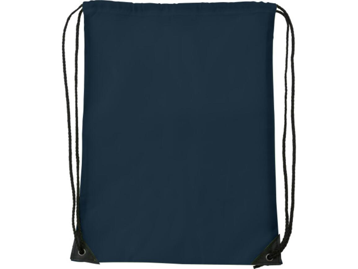 Turnbeutel 'Basic' aus Polyester – Blau bedrucken, Art.-Nr. 005999999_7097