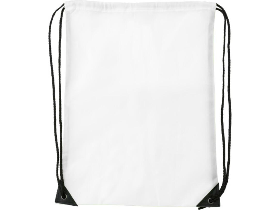 Turnbeutel 'Basic' aus Polyester – Weiß bedrucken, Art.-Nr. 002999999_7097