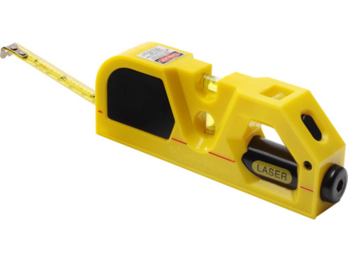 Maßband 'Lasertech' aus Kunststoff – Gelb bedrucken, Art.-Nr. 006999999_7166