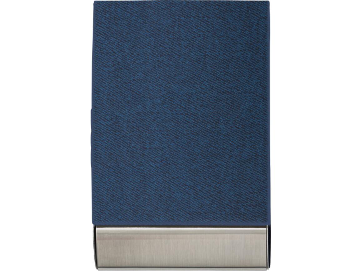 Visitenkartenhalter 'Business' aus Metall – Blau bedrucken, Art.-Nr. 005999999_7227