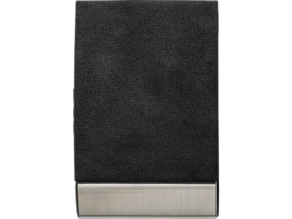Visitenkartenhalter 'Business' aus Metall – Schwarz bedrucken, Art.-Nr. 001999999_7227
