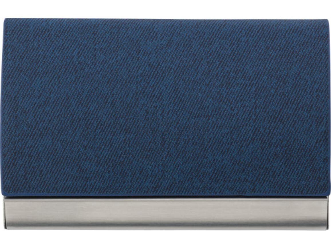 Visitenkartenhalter 'Business' aus Metall – Blau bedrucken, Art.-Nr. 005999999_7229