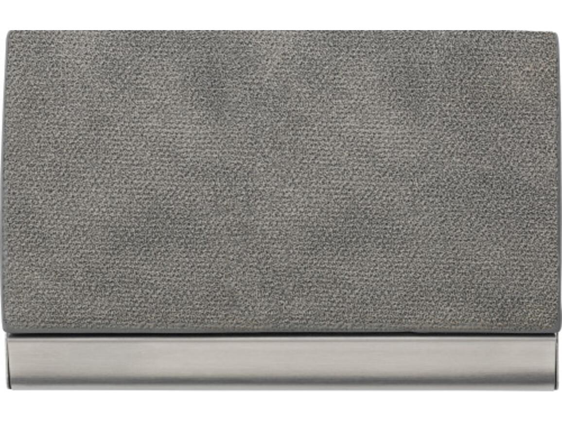 Visitenkartenhalter 'Business' aus Metall – Grau bedrucken, Art.-Nr. 003999999_7229