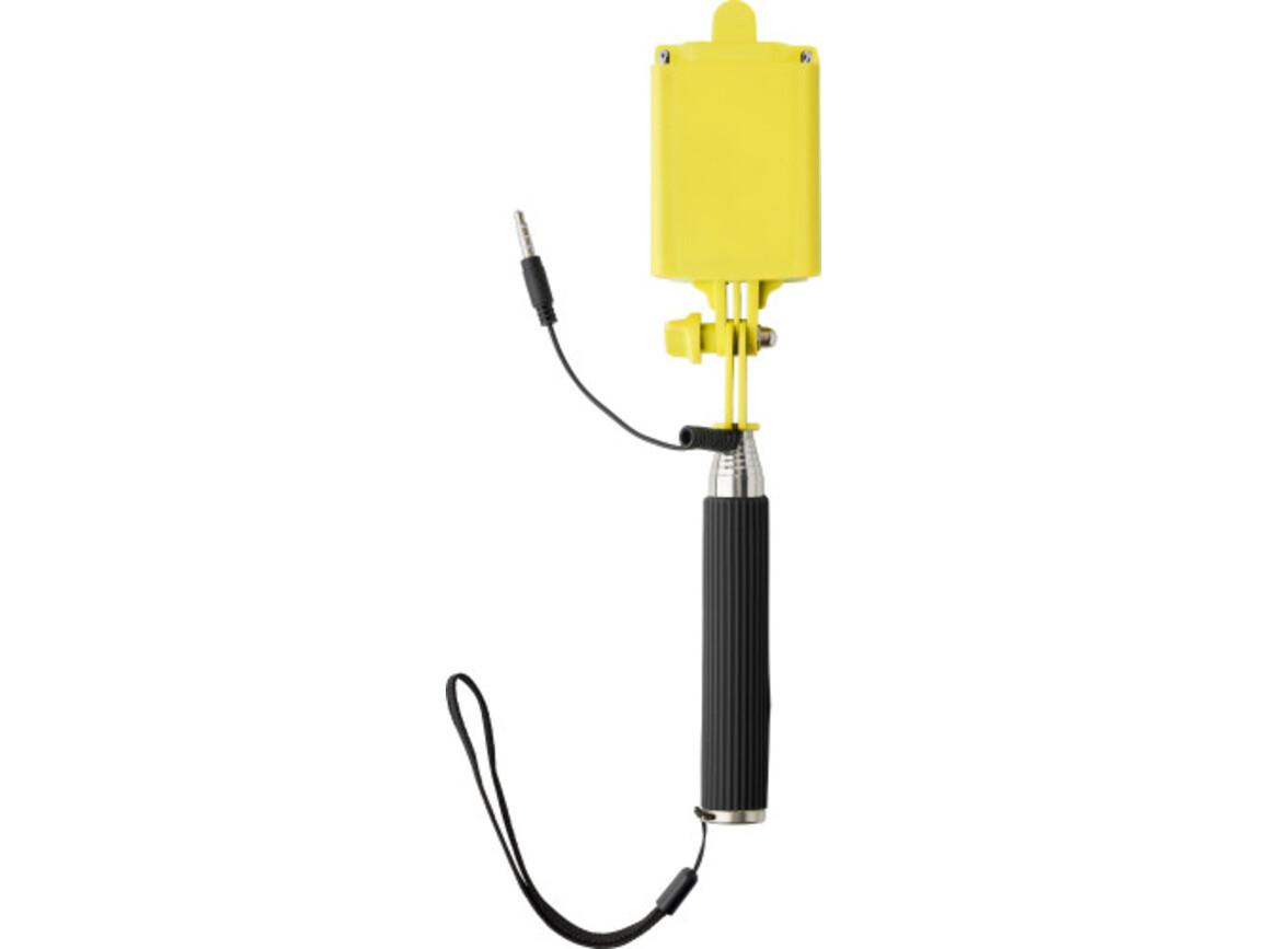 Teleskop-Halter 'Mini-Selfie' für Selbstportraits – Gelb bedrucken, Art.-Nr. 006999999_7245