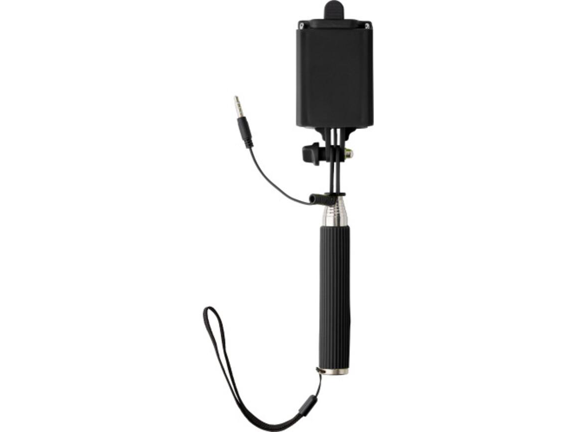 Teleskop-Halter 'Mini-Selfie' für Selbstportraits – Schwarz bedrucken, Art.-Nr. 001999999_7245