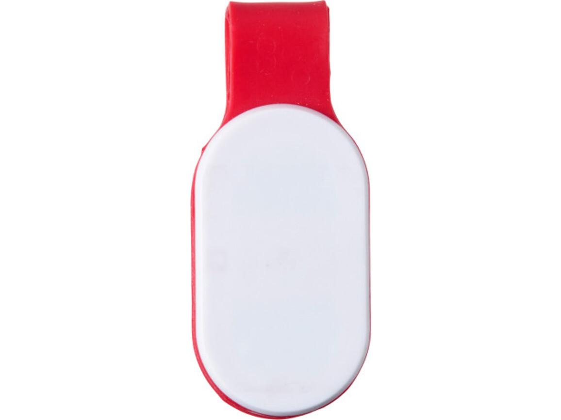 Sicherheitslampe 'Everton' aus Kunststoff – Rot bedrucken, Art.-Nr. 008999999_7246