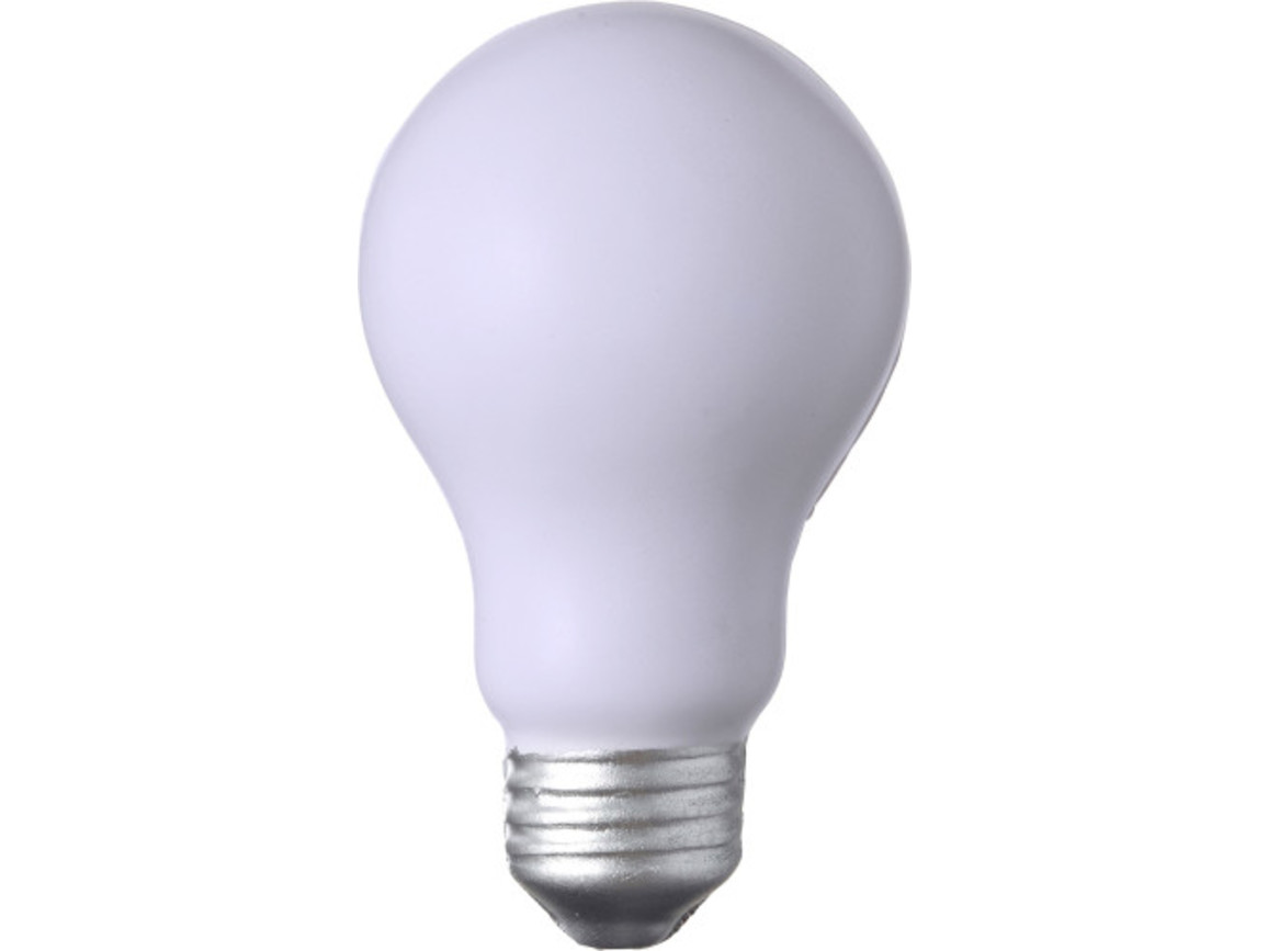 Anti-Stress Glühbirne 'Take it easy' aus PU Schaum – Weiß bedrucken, Art.-Nr. 002999999_7249