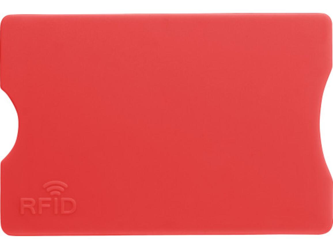 Kreditkartenhalter 'Money' aus Kunststoff – Rot bedrucken, Art.-Nr. 008999999_7252