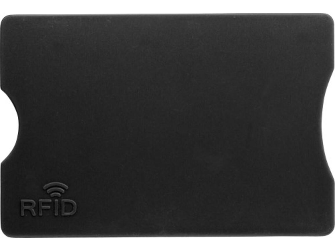 Kreditkartenhalter 'Money' aus Kunststoff – Schwarz bedrucken, Art.-Nr. 001999999_7252