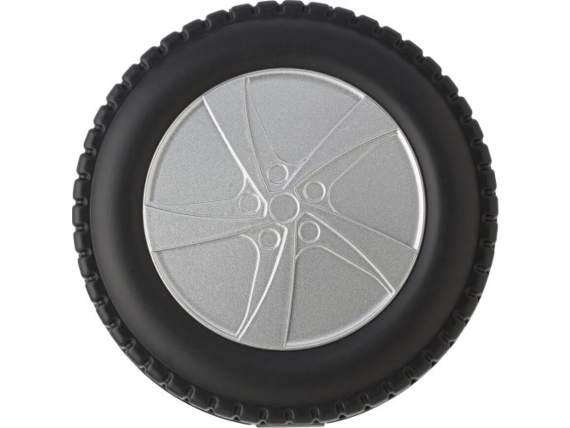 Werkzeug-Set 'Wheel' aus Kunststoff – Schwarz/Silber bedrucken, Art.-Nr. 050999999_7465