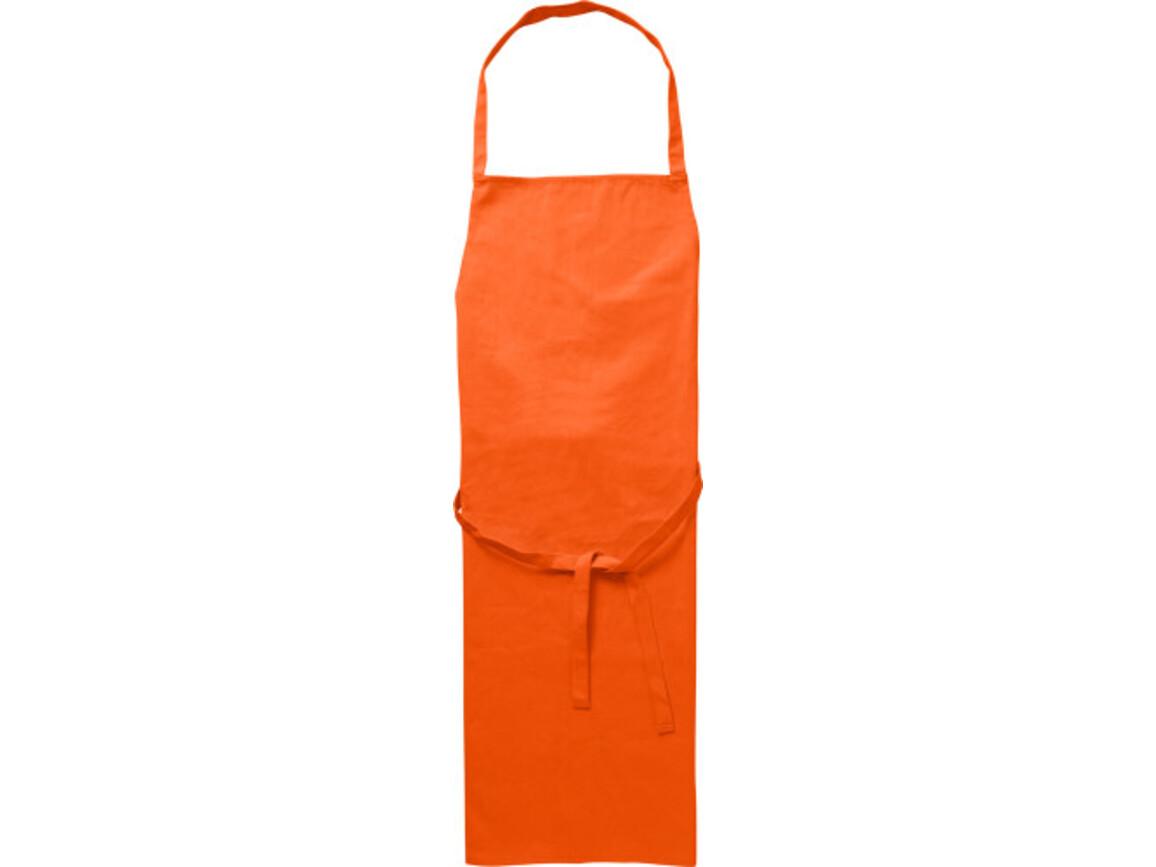 Küchenschürze 'Profi' aus Baumwolle – Orange bedrucken, Art.-Nr. 007999999_7600