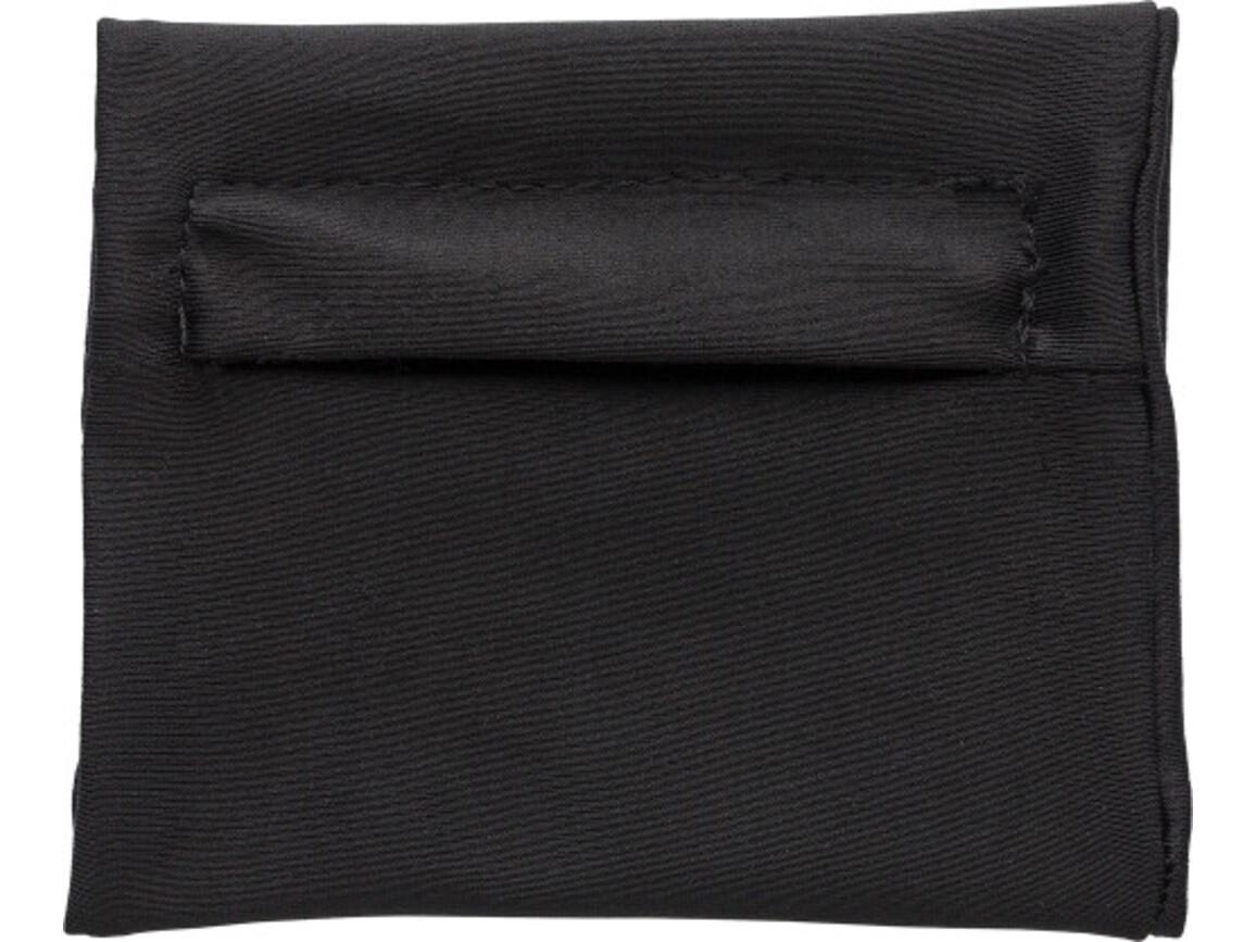 Handgelenkgeldbörse 'Jogger' aus Polyester – Schwarz bedrucken, Art.-Nr. 001999999_7608