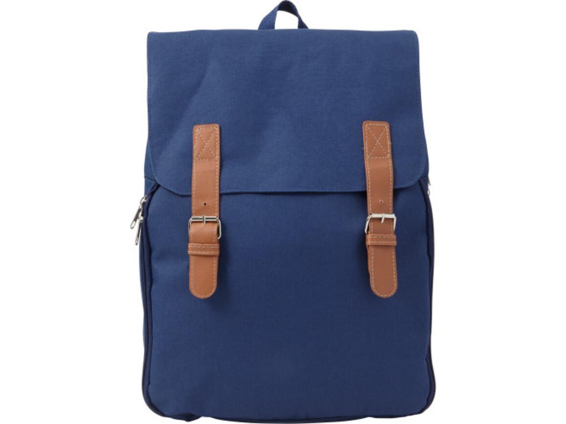 Picknick-Rucksack 'Bluefield' aus Polyester – Blau bedrucken, Art.-Nr. 005999999_7609