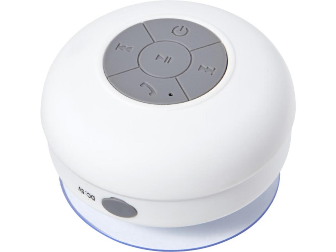BT/Wireless-Lautsprecher 'Shower' aus Kunststoff – Weiß bedrucken, Art.-Nr. 002999999_7631