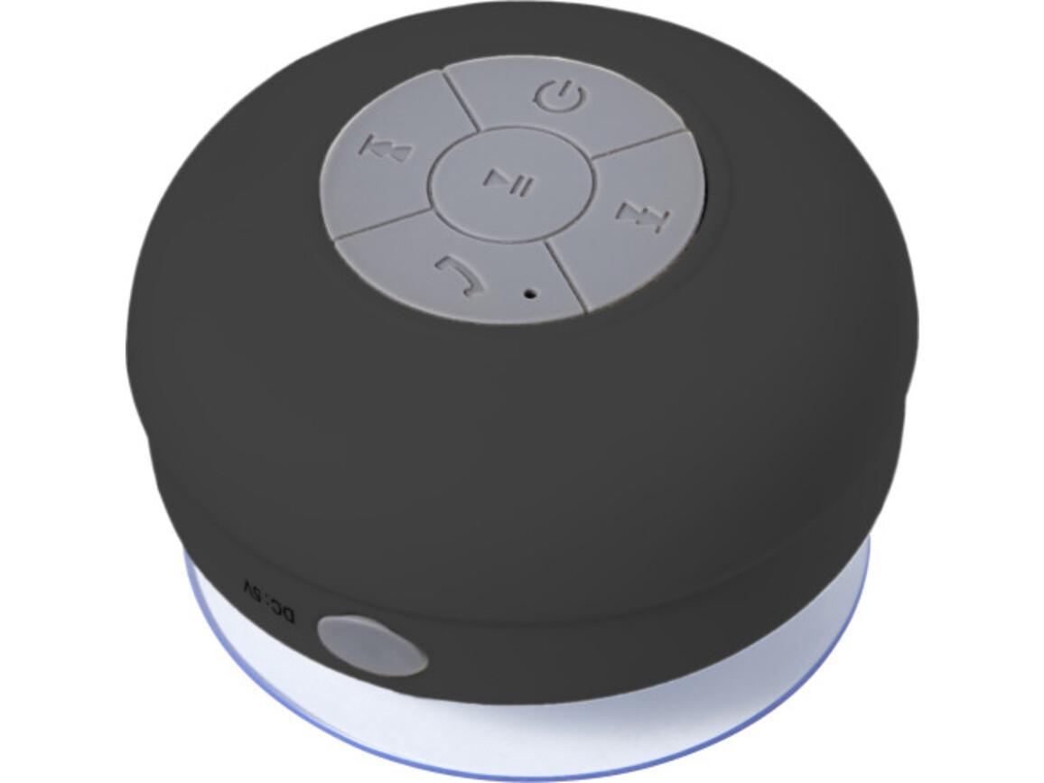 BT/Wireless-Lautsprecher 'Shower' aus Kunststoff – Schwarz bedrucken, Art.-Nr. 001999999_7631