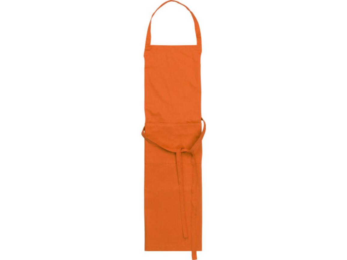 Küchenschürze 'Cuisine' aus Polyester/Baumwolle – Orange bedrucken, Art.-Nr. 007999999_7635