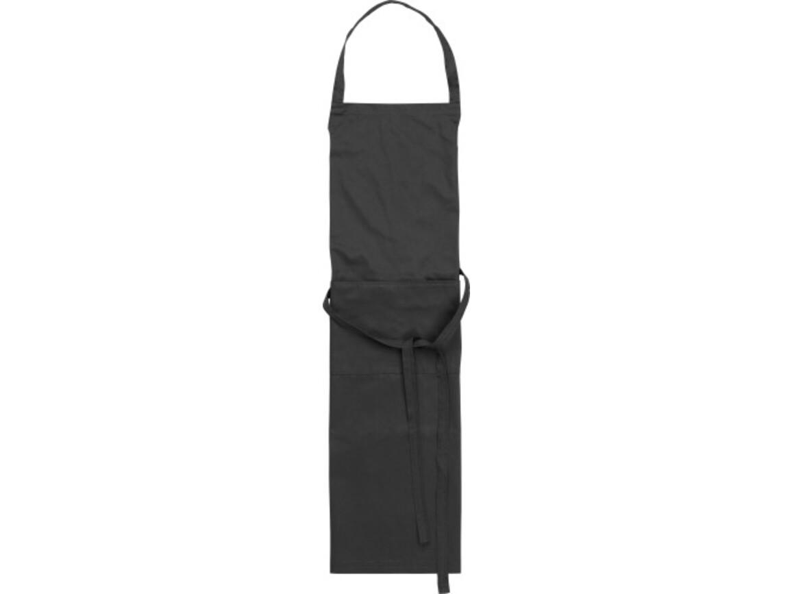 Küchenschürze 'Cuisine' aus Polyester/Baumwolle – Schwarz bedrucken, Art.-Nr. 001999999_7635