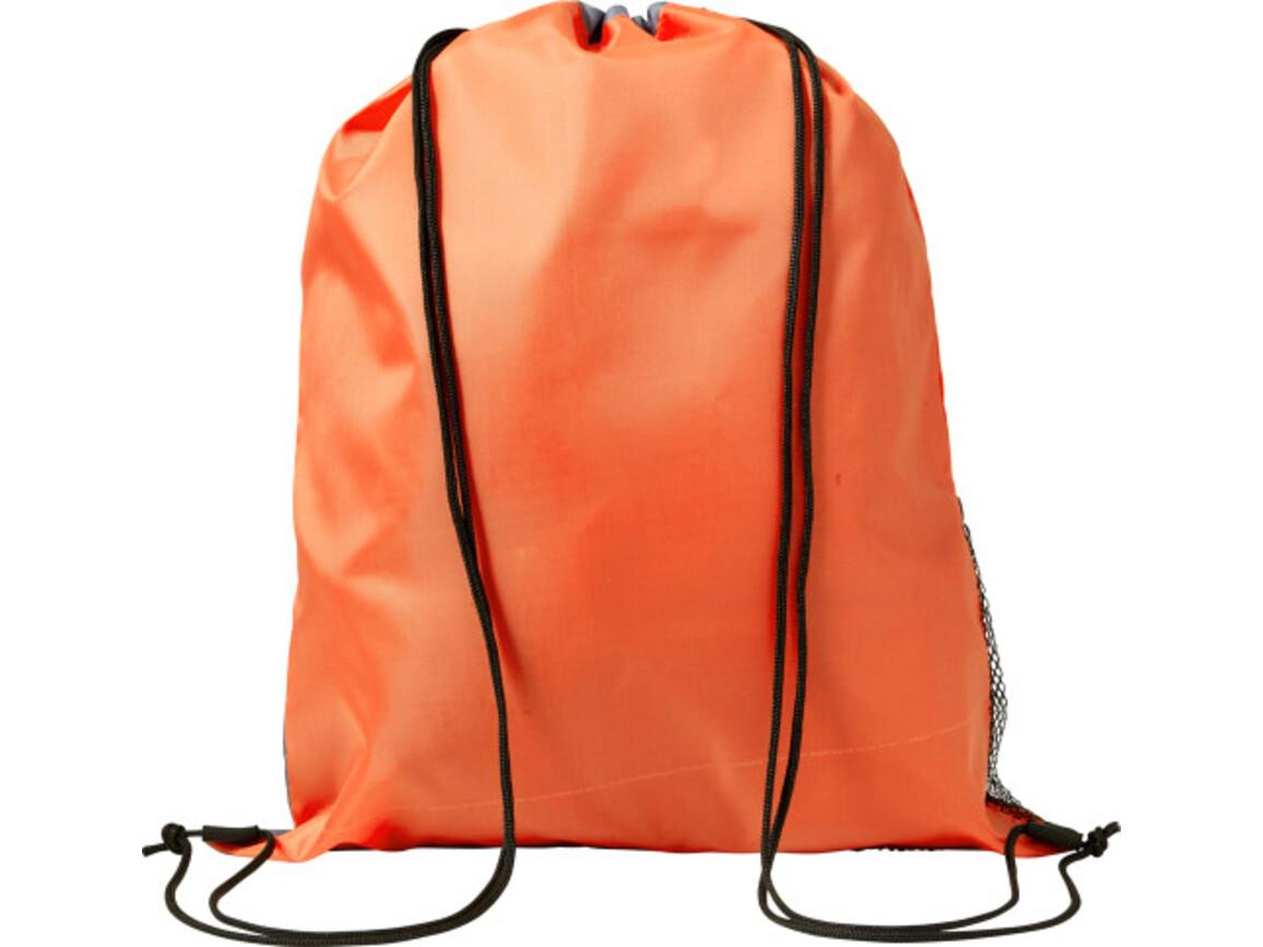Schuh-/Rucksack (Turnbeutel) 'Mondo' aus Polyester – Orange bedrucken, Art.-Nr. 007999999_7637