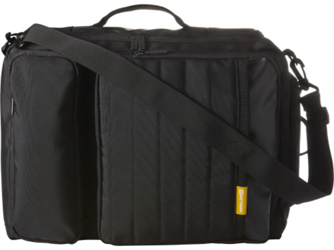 GETBAG Multifunktionstasche 'New York' aus Polyester – Schwarz bedrucken, Art.-Nr. 001999999_7644