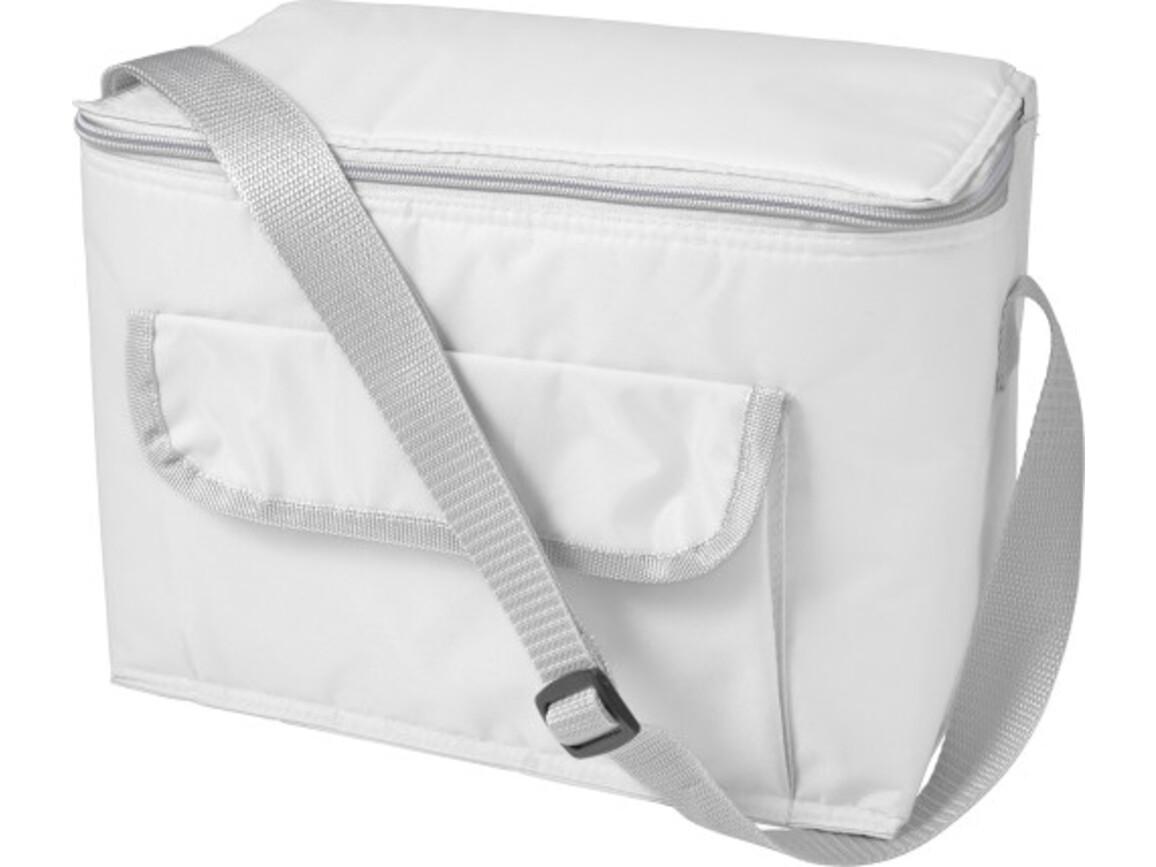 Kühltasche 'Orlando' aus Polyester – Weiß bedrucken, Art.-Nr. 002999999_7654