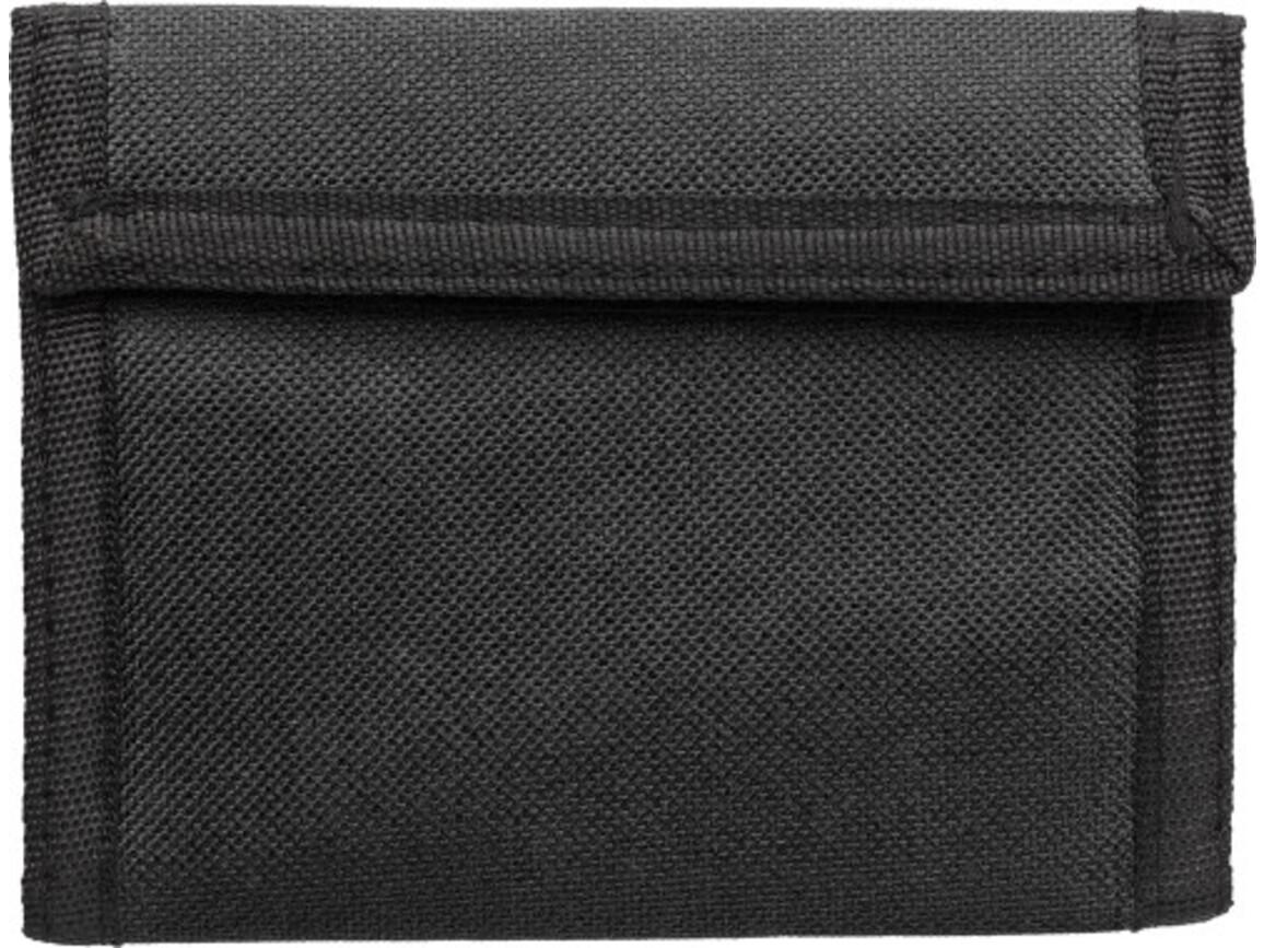 Geldbörse 'Trend' aus Polyester – Schwarz bedrucken, Art.-Nr. 001999999_7664