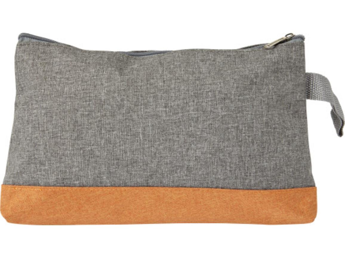 Kosmetiktasche 'Stockholm' aus Polycanvas – Orange bedrucken, Art.-Nr. 007999999_7727