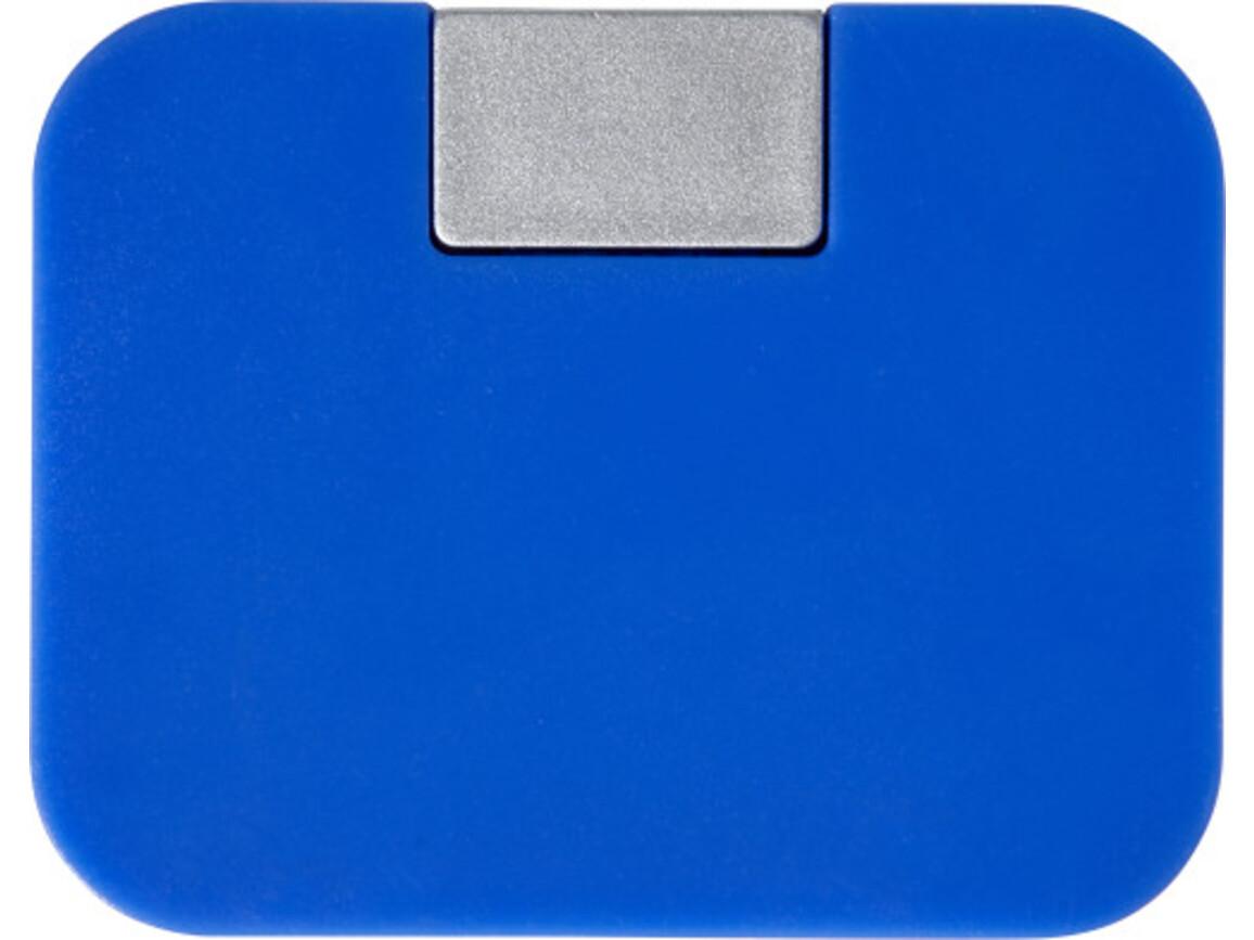 USB-Hub 'Box' aus ABS-Kunststoff – Blau bedrucken, Art.-Nr. 005999999_7735