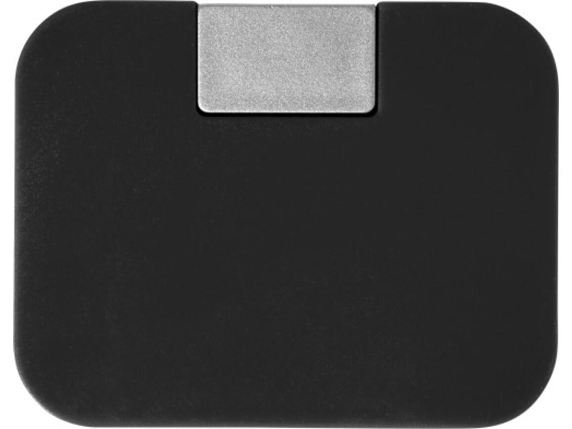 USB-Hub 'Box' aus ABS-Kunststoff – Schwarz bedrucken, Art.-Nr. 001999999_7735