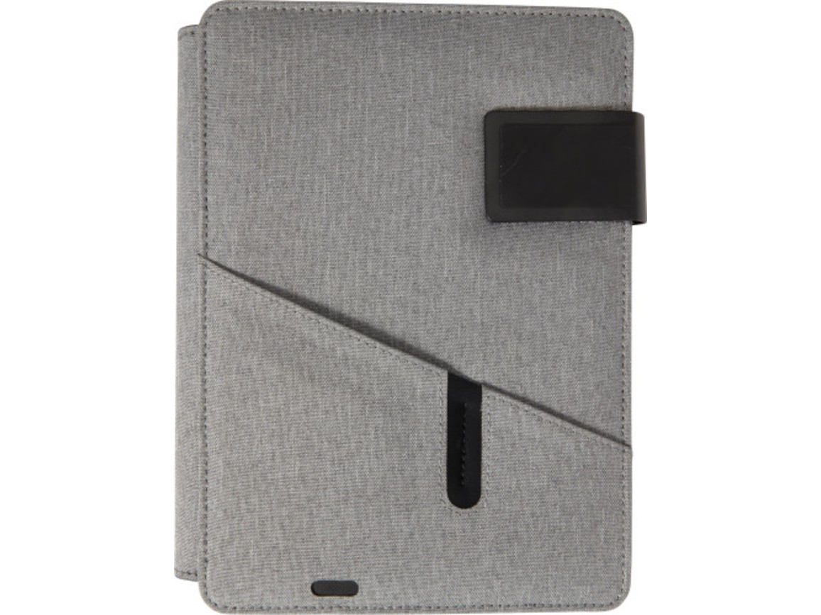 Dokumentenmappe 'Bergen' aus Polyester – Grau bedrucken, Art.-Nr. 003999999_7752