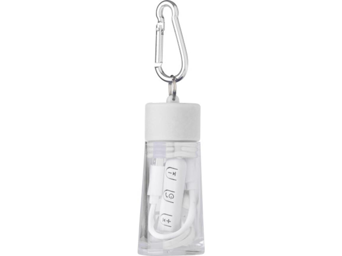 Wireless Kopfhörer 'Travel' aus Kunststoff – Weiß bedrucken, Art.-Nr. 002999999_7765