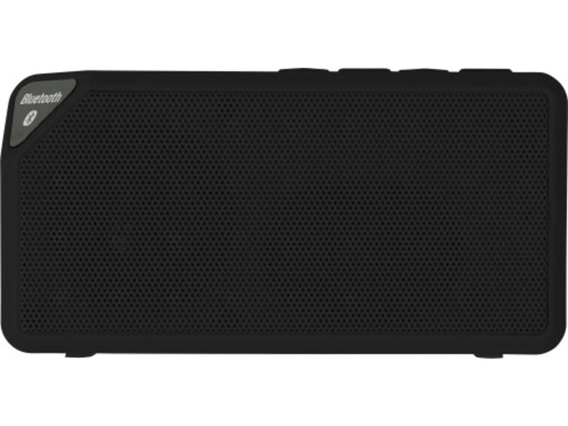 BT/Wireless-Lautsprecher 'Cube' aus Kunststoff – Schwarz bedrucken, Art.-Nr. 001999999_7796