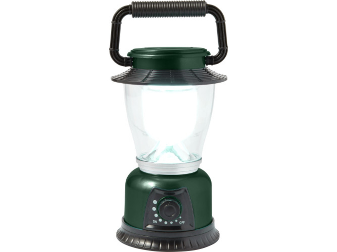 LED Campingleuchte 'Fun' aus Kunststoff – Grün bedrucken, Art.-Nr. 004999999_7802