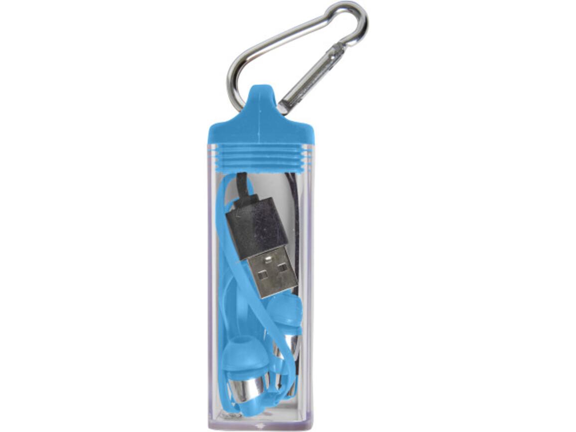 BT/Wireless Kopfhörer 'Boxed' aus Kunststoff – Blau bedrucken, Art.-Nr. 005999999_7816