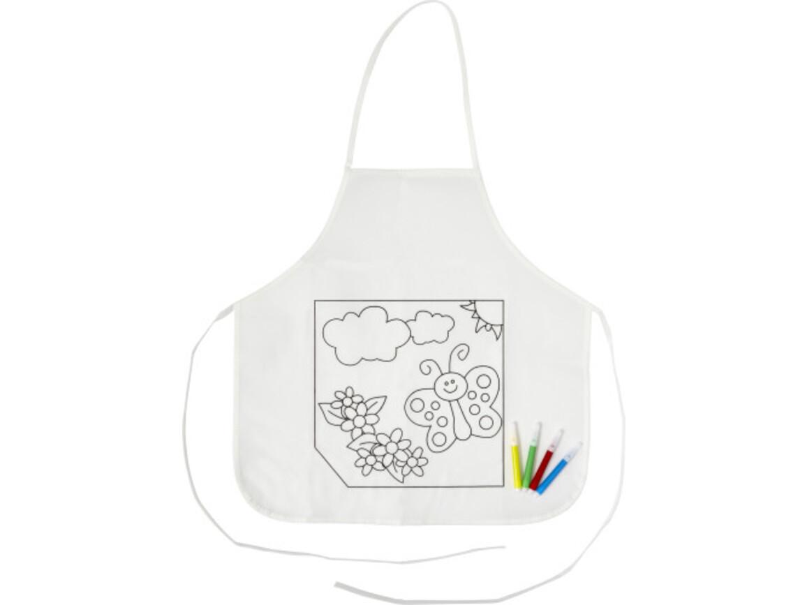 Küchenschürze 'Creativ Kids' aus Polyester – Weiß bedrucken, Art.-Nr. 002999999_7828