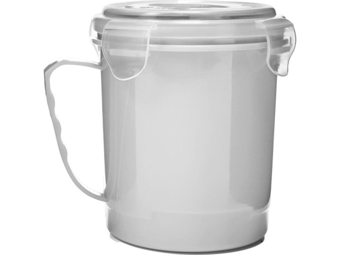 Lunchbox 'Soup' aus Kunststoff – Weiß bedrucken, Art.-Nr. 002999999_7837